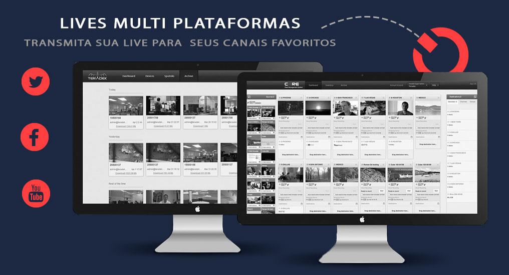 mult plataforma de live streaming, webinar