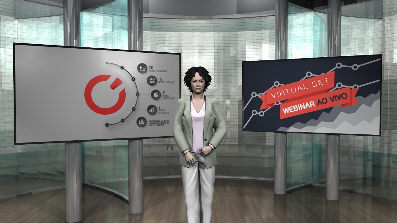 Cenário Virtual - Estúdio de TV em São Paulo - Chroma key - Virtual SET